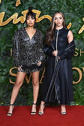 Leigh-Anne Pinnock (left) and Jade Thirlwall attending the Fashion Awards in association with Swarovski held at the Royal Albert Hall, Kensington Gore, London