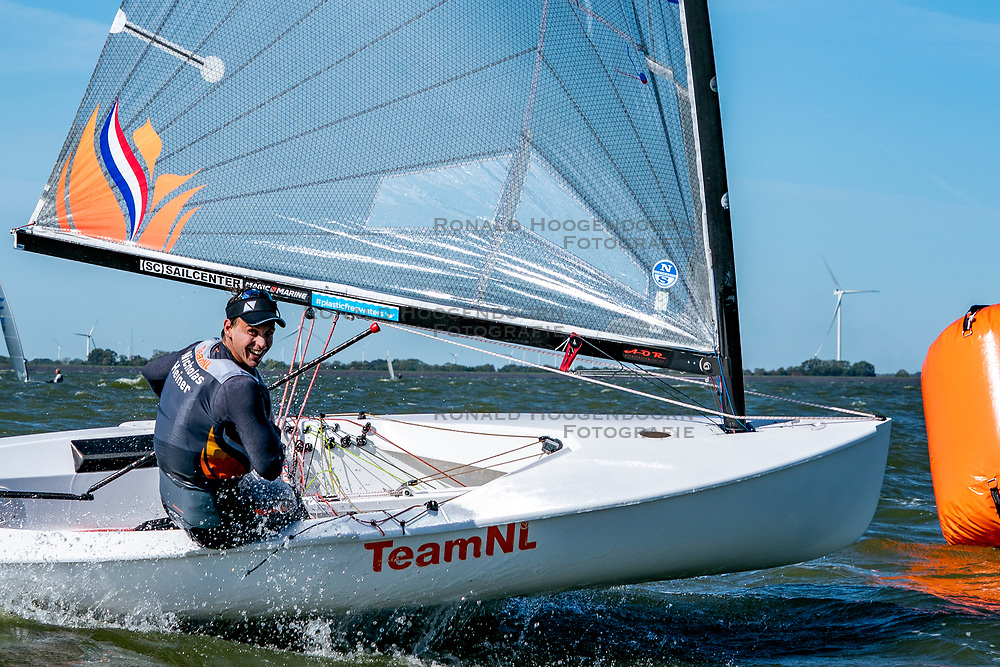 Nicholas Heiner in action by the Open Dutch Sailing Championships on September 18, 2020 in Medemblik, Netherlands