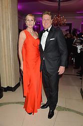 TANIA BRYER and ROD BARKER at the QBF Spring Gala in aid of the Red Cross War Memorial Children's Hospital hosted by Heather Kerzner and Jeanette Calliva at Claridge's, Brook Street, London on 12th May 2015.