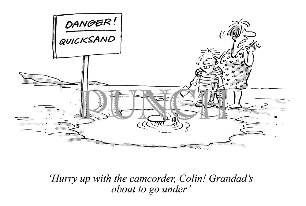 'Hurry up with the camcorder, Colin! Grandad's about to go under'