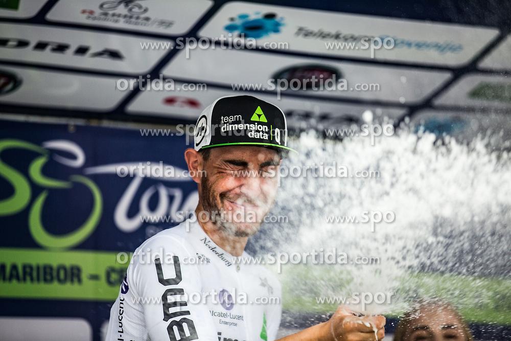 Giacomo Nizzolo (ITA) of Team Dimension Data celebrating 5th Stage of 26th Tour of Slovenia 2019 cycling race between Trebnje and Novo mesto (167,5 km), on June 23, 2019 in Slovenia. Photo by Peter Podobnik / Sportida