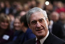 May 17, 2017 - FILE PHOTO - The Justice Department on Wednesday named ROBERT MUELLER as special counsel to oversee the department's investigation into Russian meddling in the 2016 election. Mueller III served as FBI director from 2001 through 2013. Pictured: Oct. 29, 2013 - Washington, District Of Columbia, U.S - Former FBI director Robert Mueller attends the ceremonial swearing-in of FBI Director James Comey at the FBI Headquarters October 28, 2013 in Washington, DC. Comey was officially sworn in as director of FBI on September 4 to succeed Mueller who had served as director for 12 years. (Credit Image: © Prensa Internacional/ZUMAPRESS.com)