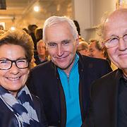 NLD/Amsterdam/20190207 - Boekpresentatie Maarten van Nispen, Joop van den Ende en partner Janine Klijburg samen met Arthur Japin