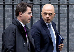 © Licensed to London News Pictures. 05/03/2019. London, UK. Secretary of State for Housing, Communities and Local Government James Brokenshire (L) and Home Secretary Sajid Javid (R) leave 10 Downing Street after the Cabinet meeting. Photo credit: Rob Pinney/LNP