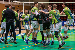 Orion celebrate the win after the league match between Active Living Orion vs. Amysoft Lycurgus on March 20, 2021 in Doetinchem.