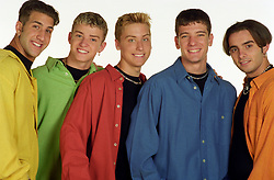 American boy band 'N Sync pose in the studio. (l-r) Joey Fatone, Justin Timberlake, Lance Bass, JC Chasez and Chris Kirkpatrick