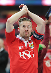 Bristol City's Wade Elliott applauds the fans after his side win the Johnstone Paint Trophy - Photo mandatory by-line: Dougie Allward/JMP - Mobile: 07966 386802 - 22/03/2015 - SPORT - Football - London - Wembley Stadium - Bristol City v Walsall - Johnstone Paint Trophy Final