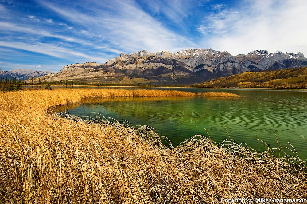 Talbot Lake and the Miette Range. <br /> Jasper National Park<br /> Alberta<br /> Canada