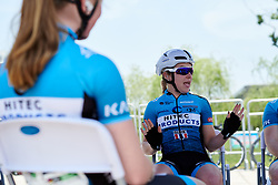 Lucy Garner (GBR) sings along to the Pitch Perfect soundtrack at Tour of Chongming Island 2019 - Stage 1, a 102.7 km road race on Chongming Island, China on May 9, 2019. Photo by Sean Robinson/velofocus.com