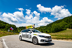 Frutabela car during 3rd Stage of 27th Tour of Slovenia 2021 cycling race between Brezice and Krsko (165,8 km), on June 11, 2021 in Slovenia. Photo by Matic Klansek Velej / Sportida