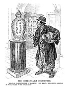"""The Indefatigable Connoisseur. """" What an exquisite piece of Nan-king! And what a delightful addition it would make to my collection!"""" (Yosuke Matsuoka inside a gallery, having already stolen the Manchurian vase now eyes the North China vase with its label 'Do Not Touch')"""
