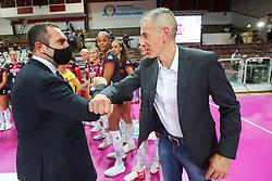 MINISTRO VINCENZO SPADAFORA CON FENOGLIO MARCO (ALLENATORE BUSTO ARSIZIO)<br /> SUPERCOPPA 2020-2021 PALLAVOLO FEMMINILE <br /> IMOCO VOLLEY CONEGLIANO - UNET E-WORK BUSTO ARSIZIO <br /> VICENZA 06-09-2020<br /> FOTO FILIPPO RUBIN
