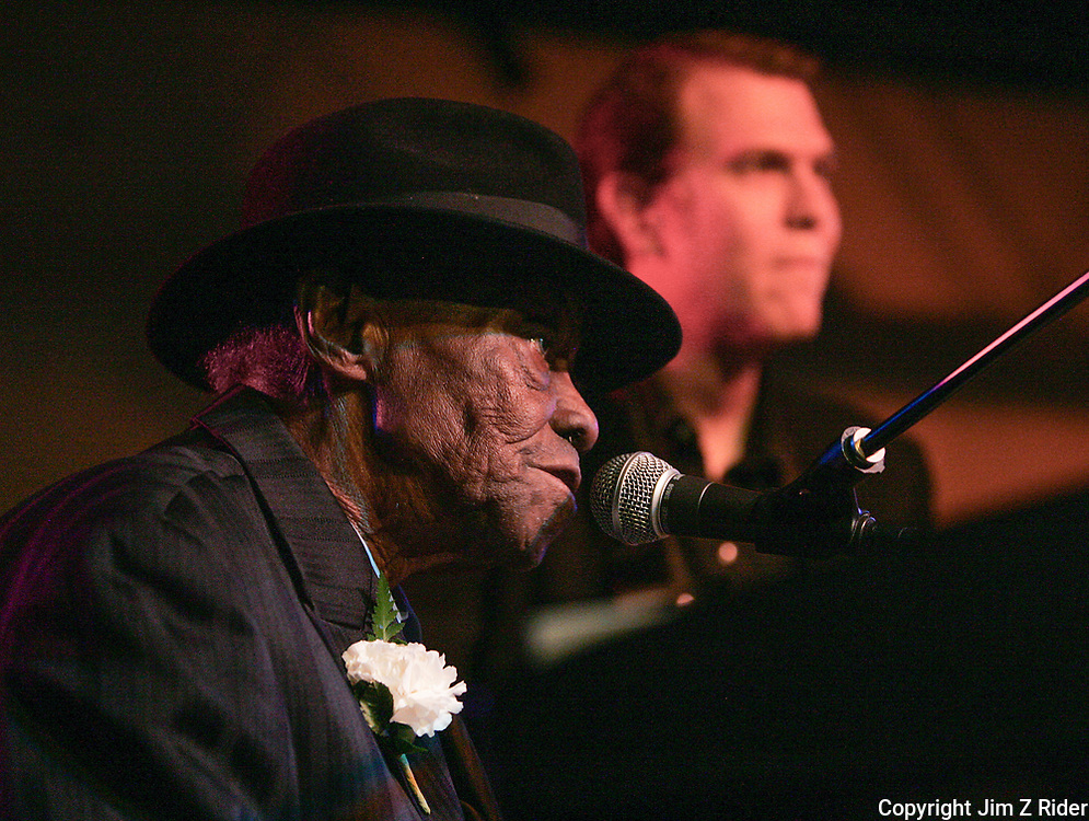 pinetop perkins performs in South Bend, Indiana.