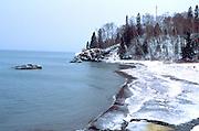 Winter at the North Shore of Lake Superior.  Lutsen Minnesota USA