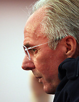 Photo: Chris Ratcliffe.<br />England Press Conference. FIFA World Cup 2006. 28/06/2006.<br />Sven Goran Eriksson addresses the media.