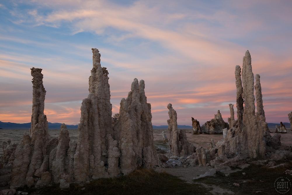 """Sunset at Mono Lake 3"" - These tufas were photographed at the South Tufa area in Mono Lake, California."