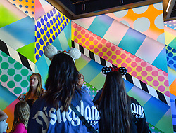 May 2, 2019 - Anaheim, California, U.S. - Murals on the walls at Black Tap Craft Burgers & Beer at Downtown Disney District in Anaheim, CA, on Thursday, May 2, 2019. (Credit Image: © Jeff Gritchen/SCNG via ZUMA Wire)