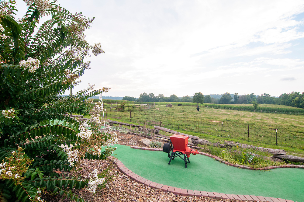 The miniature golf course at Christian Way Farm in Hopkinsville, Kentucky on Friday, August 11, 2017. Copyright 2017 Jason Barnette