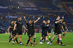 November 24, 2018 - Rome, Italy - Italy v New Zealand All Blacks - Rugby Cattolica Test Match..New Zealand greeting the supporters at end of the match at Olimpico Stadium in Rome, Italy on November 24, 2018. (Credit Image: © Matteo Ciambelli/NurPhoto via ZUMA Press)