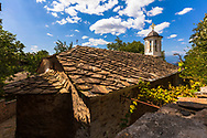 Old bulgarian village with stone roofs