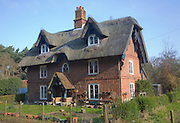 Large detached thatched house and garden, Sudbourne, Suffolk, England
