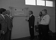 Ballymun Scout Hall.1982.28.07.1982.07.28.1982.28th July 1982.Sean Doherty TD Opens Ballymun Scout Hall,Albert College Drive, Dublin 9 ..The Minister is watched by Mr Patrick Mc Fadden, Governor Mountjoy Prison, Mr Noel Mc Carthy,101st Scout Leader and Mr Joe Lawlor Chief Scout.