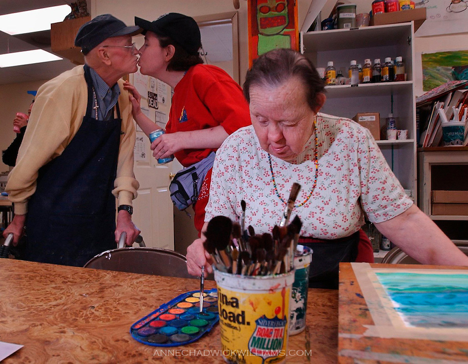 For almost twenty years, Irene Pinole has practiced her art at the Short Center, a nonprofit fine arts program for the disabled. Anne Chadwick Williams /May  2004/ The Sacramento Bee/