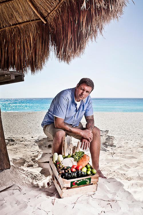 Portrait photography. Chuck Hughes, Chuck's Week Off Mexico. 2011.