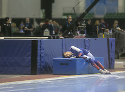 March 9, 2019 - Salt Lake City, Utah, USA - Sergey Trofimo Russia collapses after competing in the 5000m speed skating finals at the ISU World Cup at the Olympic Oval in Salt Lake City, Utah. (Credit Image: © Natalie Behring/ZUMA Wire)
