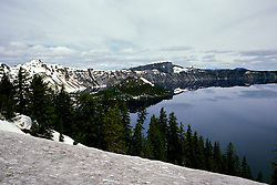 OR: Oregon; Crater Lake National Park, scenic view from the South side of Crater Lake         .Photo Copyright Lee Foster, lee@fostertravel.com, www.fostertravel.com, (510) 549-2202.Image orcrat217