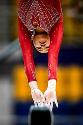 October 28, 2018 - Doha, Quatar - Yile Chen of China   during  Balancing Beam qualification at the Aspire Dome in Doha, Qatar, Artistic FIG Gymnastics World Championships on 28 of October 2018. (Credit Image: © Ulrik Pedersen/NurPhoto via ZUMA Press)