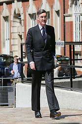© Licensed to London News Pictures. 23/07/2019. London, UK. Jacob Rees-Mogg arrives for the result of the Conservative Party leadership race at  QEII Centre. Photo credit: Dinendra Haria/LNP