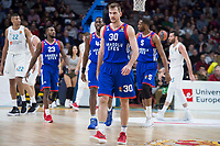 Anadolu Efes Toney Douglas, Bryant Dunston, Zoran Dragic, Derrick Brown during Turkish Airlines Euroleague match between Real Madrid and Anadolu Efes at Wizink Center in Madrid, Spain. January 25, 2018. (ALTERPHOTOS/Borja B.Hojas)