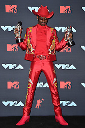 Lil Nas X poses in the Press Room during the 2019 MTV Video Music Awards at Prudential Center on August 26, 2019 in Newark, NJ, USA. Photo by Lionel Hahn/ABACAPRESS.COM