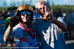 After the mini-bike races Saturday afternoon at the Smokeout. Rockingham, NC. USA. June 20, 2015.  Photography ©2015 Michael Lichter.