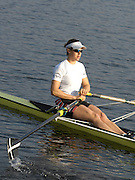 Hazenwinkel, BELGIUM,  W1X, Annie VERNON, moves down to the start, for the fianl of the women's sculls A final, at the Monday finals day, at the GB Rowing Senior Trials, on Mon 16.04.2007  [Credit, Peter Spurrier/Intersport-images]   [Mandatory Credit, Peter Spurier/ Intersport Images]. , Rowing Course, Bloso, Hazewinkel. BELGUIM