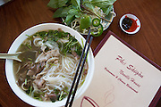 Beef Pho (#1), Pho Saigon Noodle House, Milpitas, Calif.  Photo by Stan Olszewski/SOSKIphoto.