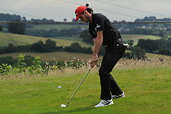 © Licensed to London News Pictures. 01/07/2017. London, UK, Footballer Gareth Bale during The 2017 Celebrity Cup golf tournament at the Celtic Manor Resort, Newport, South Wales. Photo credit: Jeff Thomas/LNP
