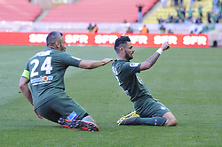 May 5, 2019 - Monaco, France - Joie - Remy Cabella (AS Saint Etienne) - Loic Perrin  (Credit Image: © Panoramic via ZUMA Press)