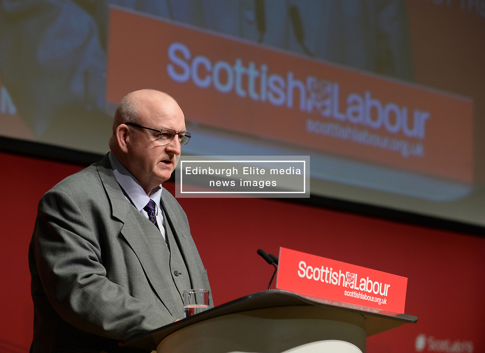 Pictured: Dundee City Council Labour Group leader Councillor Kevin Keenan opened the conference.<br /> <br /> The Scottish Labour Party spring conference opened in Dundee on Friday, where Scottish Labour leader Richard Leonard joined delegates and party activists.<br /> <br /> <br /> © Dave Johnston / EEm
