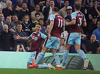 Football - 2018/ 2019 Premier League - Chelsea vs Burnley<br /> <br /> Jeff Hendrick of Burnley celebrates scoring their first goal at Stamford Bridge<br /> <br /> Colorsport  / Andrew Cowie