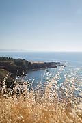 Scenic view of seacoast against clear sky, Cyprus