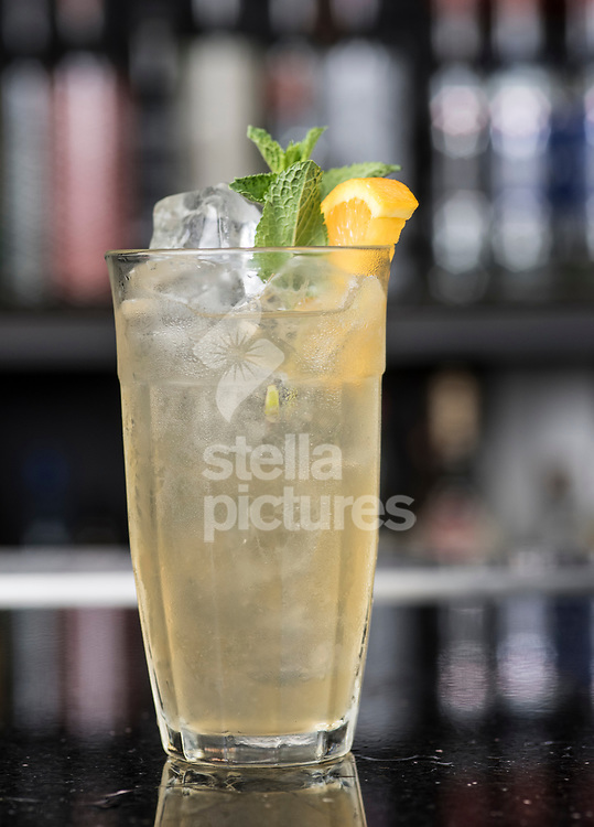 A Bump and Rind rum cocktail at The Curtain, Shoreditch<br /> Picture by Daniel Hambury/Stella Pictures Ltd 07813022858<br /> 24/07/2017