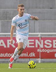 Anders Holst (FC Helsingør) under kampen i 1. Division mellem FC Helsingør og Kolding IF den 24. oktober 2020 på Helsingør Stadion (Foto: Claus Birch).