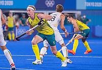 TOKIO - Aran Zalewski (Aus)  tijdens de hockey finale mannen, Australie-Belgie (1-1), België wint shoot outs en is Olympisch Kampioen,  in het Oi HockeyStadion,   tijdens de Olympische Spelen van Tokio 2020. COPYRIGHT KOEN SUYK