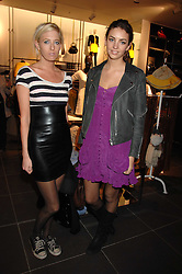 Left to right, the HON.SOPHIA HESKETH and ROSE HANBURY at a party to celebrate the opening of the new H&M store at 234 Regent Street, London on 13th February 2008.<br /><br />NON EXCLUSIVE - WORLD RIGHTS