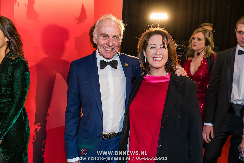 NLD/Amsterdam/20161221 - NOC*NSF Sportgala 2016, Joop Zoetemelk en partner Francoise Duchoissy