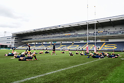 Worcester Valkyries during the pre match warm up - Mandatory by-line: Craig Thomas/JMP - 23/09/2017 - RUGBY - Sixways Stadium - Worcester, England - Worcester Valkyries v Bristol Ladies - Tyrrells Premier 15s