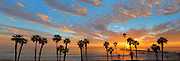 Colorful Tropical Sunset over San Clemente Pier