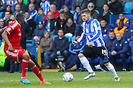 Sheffield Wednesday striker Gary Hooper (14) during the Sky Bet Championship match between Sheffield Wednesday and Cardiff City at Hillsborough, Sheffield, England on 30 April 2016. Photo by Phil Duncan.
